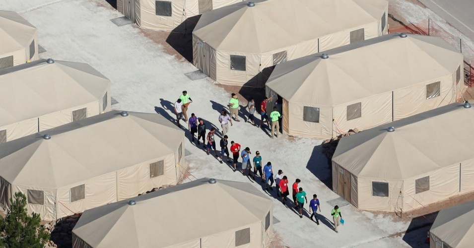 The Tornillo facility, a shelter for children of detained migrants, in Tornillo, Texas, U.S., is seen in this undated handout photo provided by the U.S. Department of Health and Human Services, obtained by Reuters June 25, 2018. (Photo: U.S. Department of Health and Human Services/Handout)