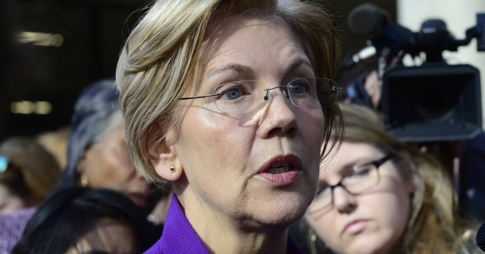 "U.S. Senator Elizabeth Warren, seen here on November 28, 2017. On Wednesday she unveiled the ""Ending Too Big to Jail Act.""  (Photo: Stephen Melkisethian/flickr/cc)"