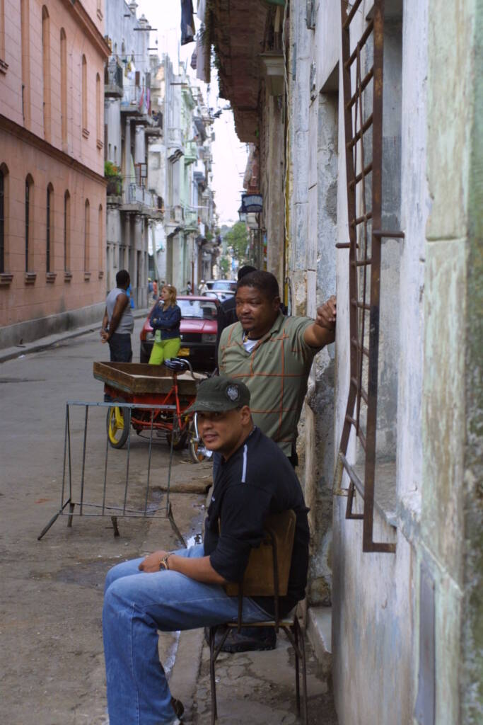 Residents of Old Havana. Photo by Reese Erlich