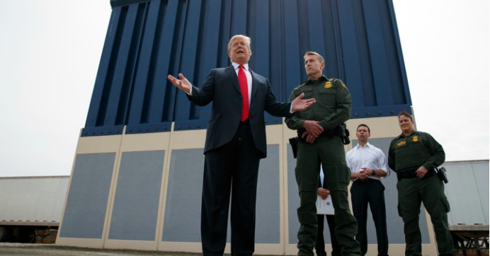 According to NBC, the Pentagon has shifted a total of $2.5 billion to help fund the construction of President Donald Trump's border wall. (Photo: Evan Vucci/AP)