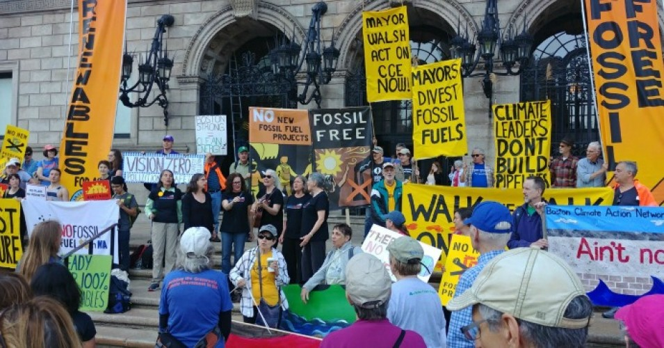 """Growing our dependence on fracked gas further delays the transition to renewables and energy efficiency we need,"" Alan Palm, director of organizing with 350 Massachusetts and the Better Future Project, said in a statement. (Photo: Massachusetts Sierra Club/Twitter)"