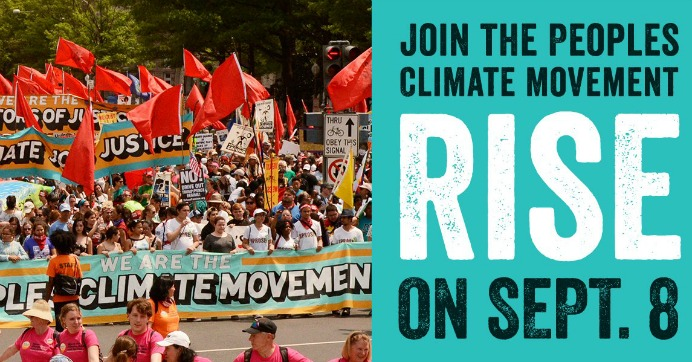 """We are at a crossroads,"" Rise for Climate organizers declared. ""By acting together, we can end the era of fossil fuels and save the climate we all depend on."" (Photo: Sierra Club)"