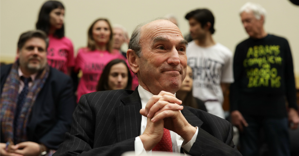Special Representative for Venezuela Elliott Abrams testifies during a hearing before House Foreign Affairs Committee February 13, 2019 on Capitol Hill in Washington, D.C. (Photo: Alex Wong/Getty Images)