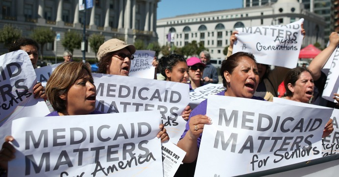 """Among the adult Medicaid enrollees who were not working, most report major impediments to their ability to work including illness or disability or care-giving responsibilities,"" according to the Kaiser Family Foundation. (Photo: Justin Sullivan/Getty Images)"