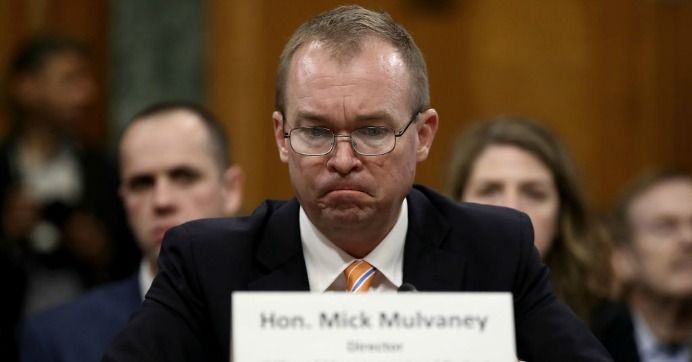Office of Management and Budget Director Mick Mulvaney testifies before the Senate Budget Committee May 25, 2017 in Washington, D.C. (Photo: Win McNamee/Getty Images)