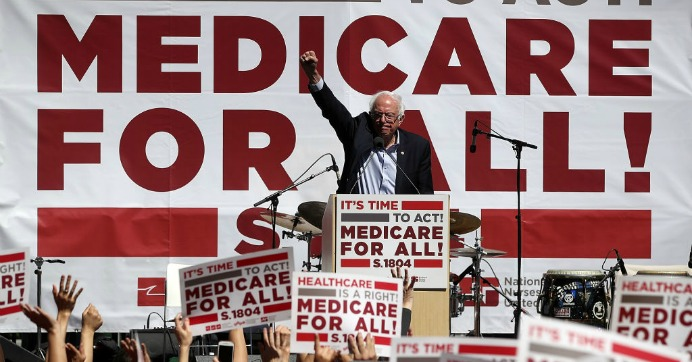 Sen. Bernie Sanders (I-Vt.) speaks during a health care rally at the 2017 Convention of the California Nurses Association/National Nurses Organizing Committee on September 22, 2017 in San Francisco, California. (Photo: Justin Sullivan/Getty Images)