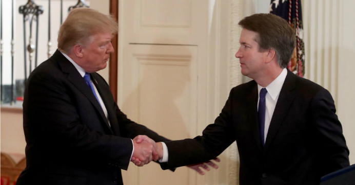President Donald Trump introduces U.S. Circuit Judge Brett M. Kavanaugh as his nominee to the United States Supreme Court during an event in the East Room of the White House July 9, 2018 in Washington, DC. (Photo: Mark Wilson/Getty Images)