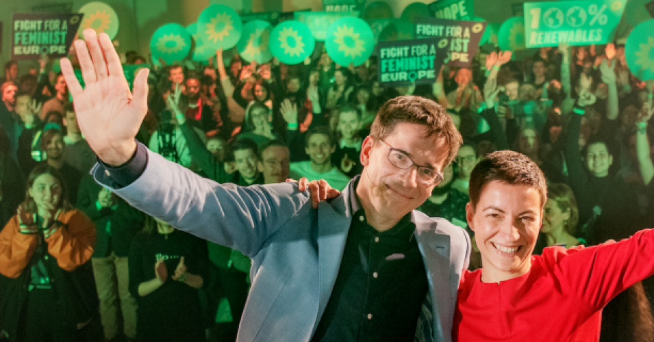 """The Green Wave has swept across Europe. We want to thank everyone who has voted for change and climate action,"" Ska Keller, one of the Greens' leading candidates for European Commission president, said in a statement Sunday following four days of continent-wide voting. (Photo: European Greens)"
