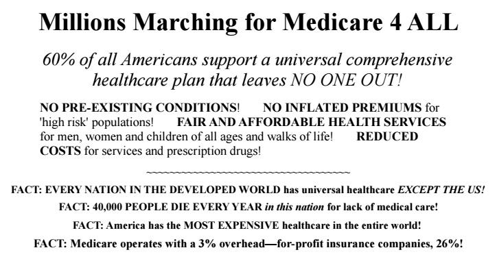 (Image Credit: Millions March for Medicare 4 All)