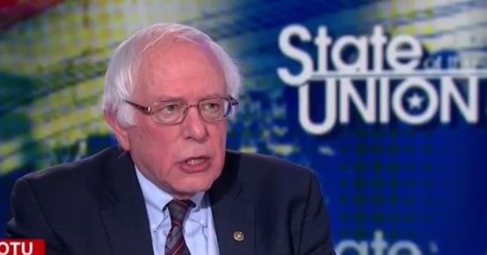 """Instead of bragging about more Americans without health insurance, we should join every other major country on Earth, guarantee healthcare for all people, and end the absurdity of paying twice as much per capita for healthcare, as every other major nation,"" Sanders said. (Photo: CNN/Screengrab)"