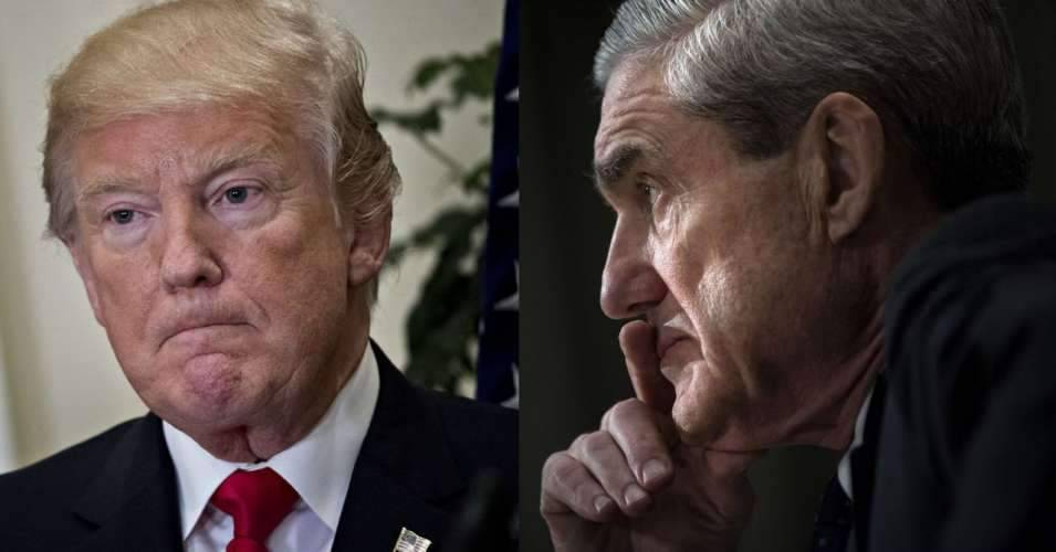 President Trump and special counsel Robert Mueller. (Photos by Andrew Harrer/Bloomberg via Getty Images; Brendan Smialowski/AFP/Getty Images)