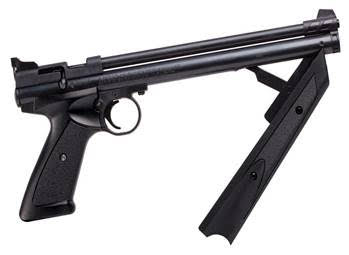 This pump-action pistol is also available at Wal Mart and other fine retailers.