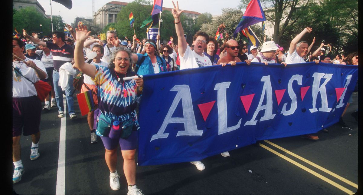 The March for Lesbian, Gay and Bi Equal Rights and Liberation in 1993. (Photo: Porter Gifford/liason/Getty Images)