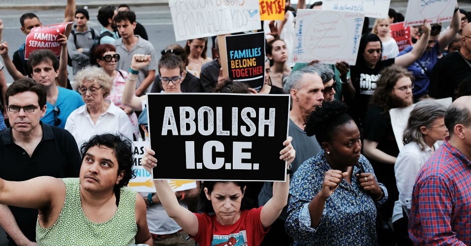 Immigrant rights advocates and others participate in a demonstration against the Trump administration's family separation policy on June 1, 2018 in New York City. (Photo: Spencer Platt/Getty Images)