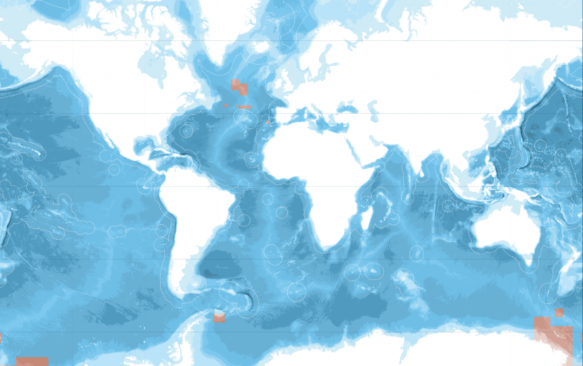 Current protected area of world's oceans. (Photo: Greenpeace)