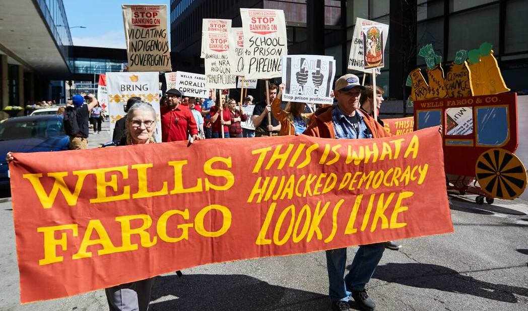 Wells Fargo protest