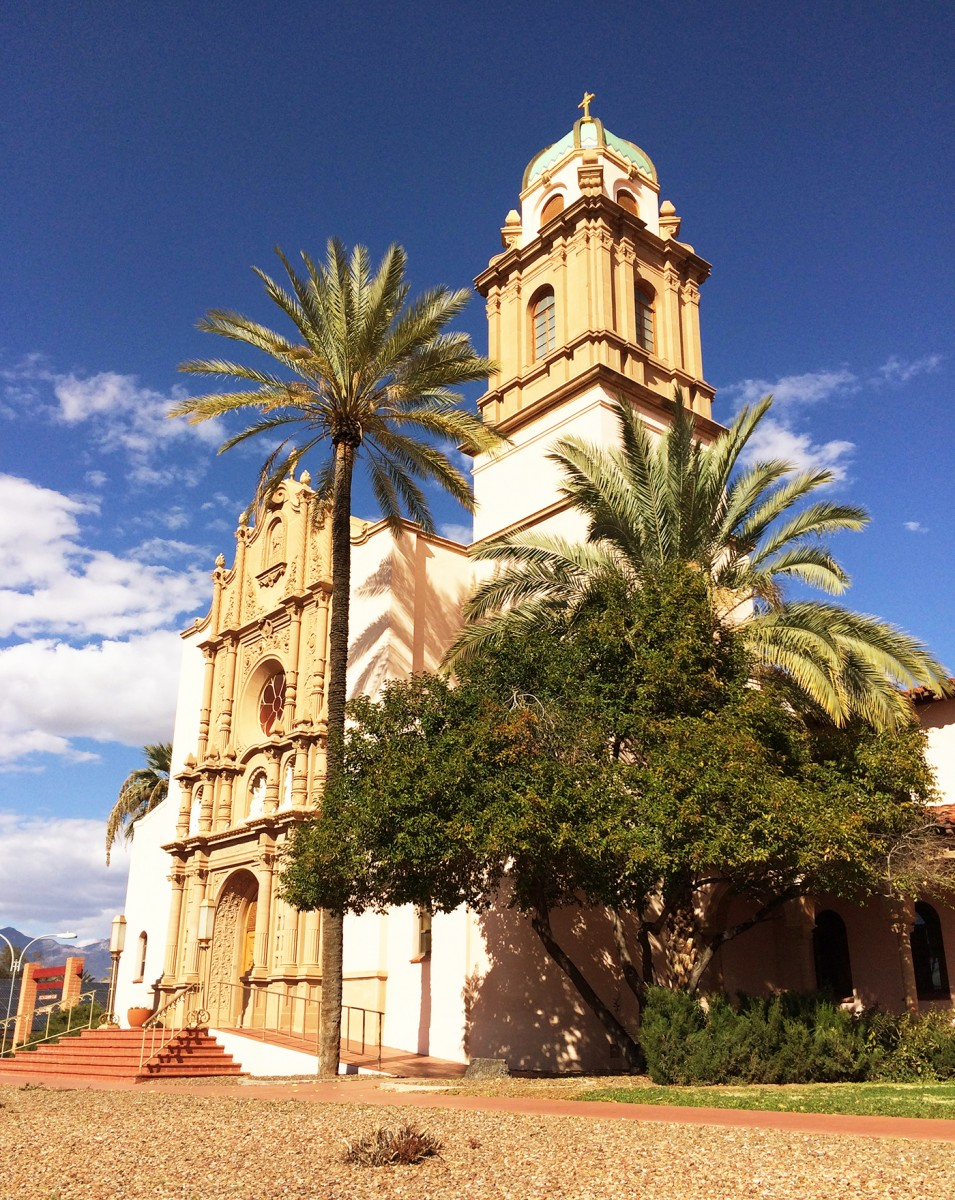 The Benedictine Monastery's sanctuary and arcades are considered treasures of Tucson's Spanish Revival architecture. (Photo: Rose Lambert-Sluder)
