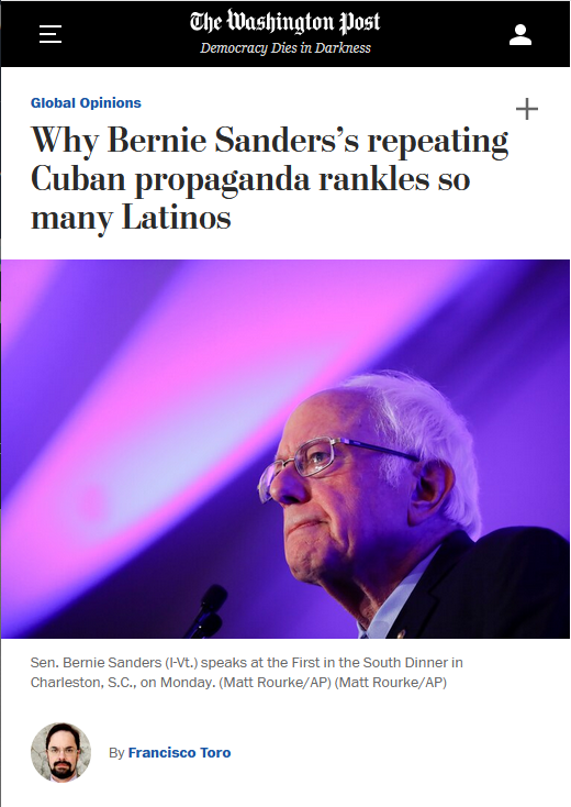 "Bernie Sanders ""rankles so many Latinos"" (Washington Post, 2/25/20) that he got more than half their votes in California and almost half in Texas (Washington Post, 3/4/20)."