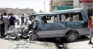 "The van from WikiLeaks' ""Collateral Murder"" video, attacked by the US military when it stopped to help victims of a US airstrike, including two Reuters reporters."