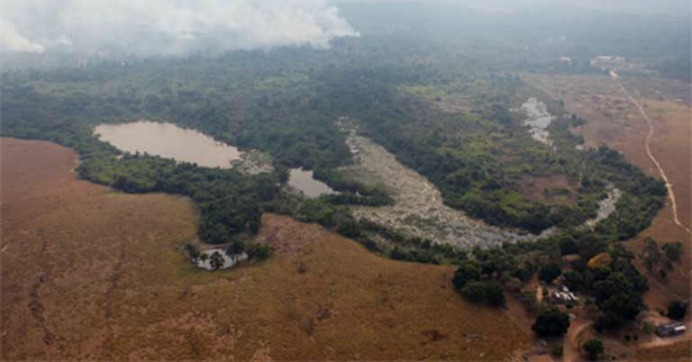 An area of Amazon forest cleared illegally by the AJ Vilela gang of land thieves near the Baú indigenous reserve. Land grabbing will become significantly easier and cheaper under the new law. Photo courtesy of Brazil's Environmental Protection Directorate (Diretoria de Proteção Ambiental – IBAMA)