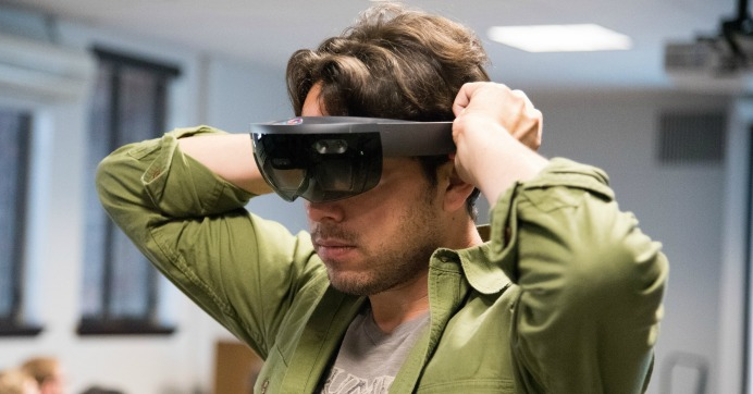The Hololens is demonstrated at the Penn Museum. (Photo: Penn Libraries-TRL/flickr/cc)