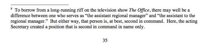Footnote from page 35 of the March 1, 2020 ruling from U.S. District Judge Randolph Moss in Washington
