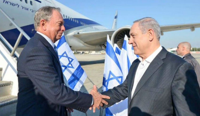 Bloomberg Defied a Flight Ban to Show Support for Israel, Defended the Country Shelling a School and Killing Sleeping Children