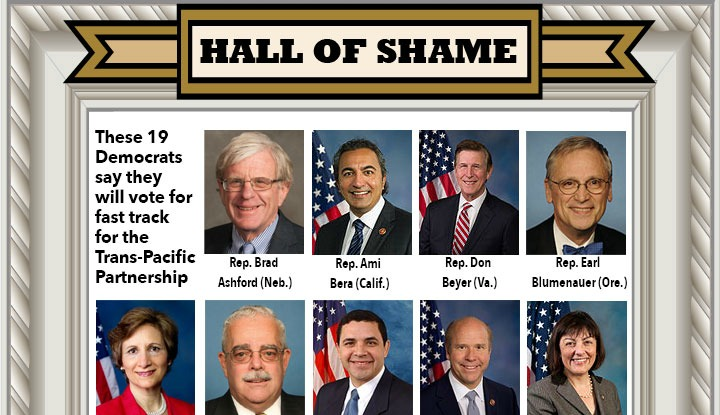 Hall Of Shame >> The 19 Democrats In The Tpp Hall Of Shame