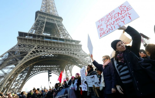 The Women's March in Paris. (Photo: Reuters)