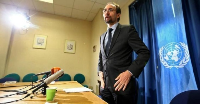 United Nations High Commissioner for Human Rights Zeid Ra'ad Al Hussein arrives for a media briefing at the U.N. European headquarters in Geneva, Switzerland on Wednesday. (Photo: Reuters)